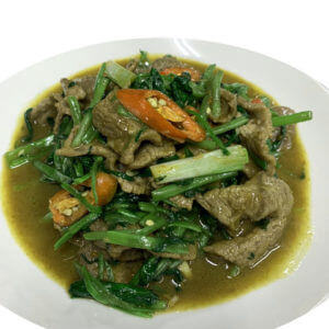 Water spinach fried with beef